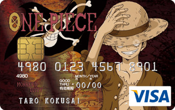 ONE PIECE VISA CARD ルフィ