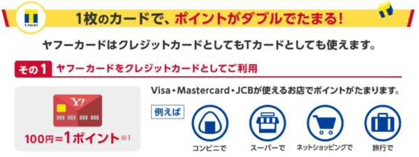 ヤフージャパンカード ダブルポイント